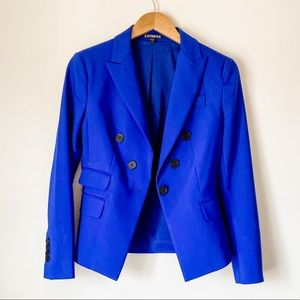 Express Blue Double breasted blazer